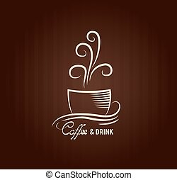 Coffee label background