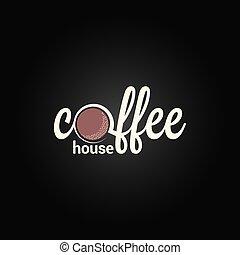 coffee label design background