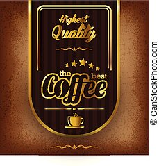 vector vintage coffee stamps and label design backgrounds menu