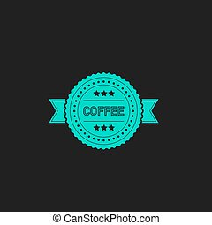 coffee label flat icon