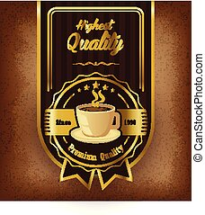 Coffee label with cup
