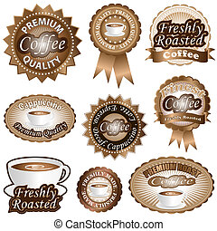 Coffee Labels - Freshly roasted coffee labels and badges...