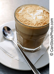 Coffee Latte top down view
