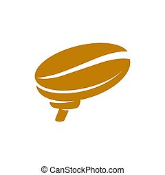 Coffee Logo Brain Template Icon Illustration Design Isolated...