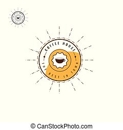 coffee logo brown Design Collection. Freeform. symbol....