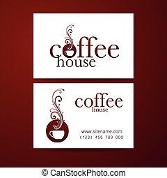 coffee logo card