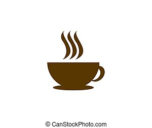 coffee logo - is a symbol associated with coffee drinks,...
