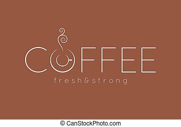 coffee logo menu design background
