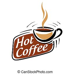 Coffee logo. Vector illustration on white background