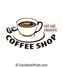 Coffee logo. Vector illustration on white background