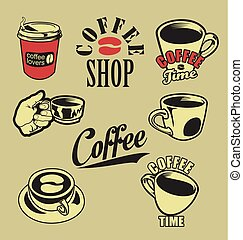 Coffee lovers retro vintage design collection.eps