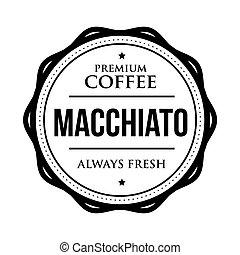 Coffee Macchiato vintage stamp vector