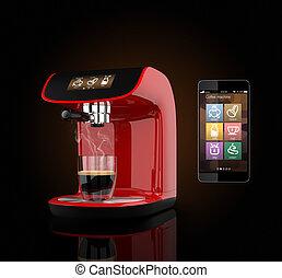 Coffee machine and smart phone