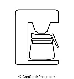 coffee machine appliance isolated icon