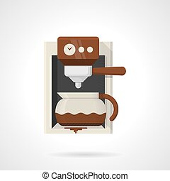 Coffee machine flat color vector icon