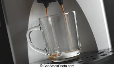 Coffee Machine with cup of coffee