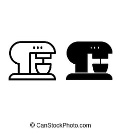 Coffee machine line and glyph icon. Coffee maker vector illustration isolated on white. Appliance outline style design, designed for web and app. Eps 10.