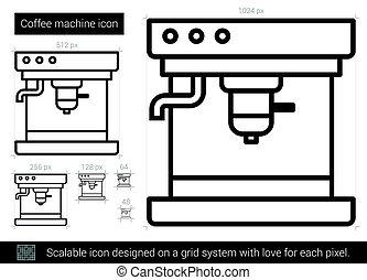 Coffee machine line icon.