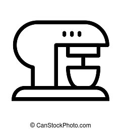 Coffee machine line icon. Coffee maker vector illustration isolated on white. Appliance outline style design, designed for web and app. Eps 10.