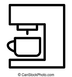 Coffee machine line icon. Coffee maker vector illustration isolated on white. Household outline style design, designed for web and app. Eps 10.