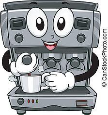 Coffee Machine Mascot