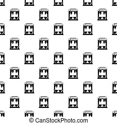 Coffee machine pattern, simple style