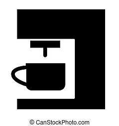 Coffee machine solid icon. Coffee maker vector illustration isolated on white. Household glyph style design, designed for web and app. Eps 10.