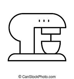 Coffee machine thin line icon. Coffee maker vector illustration isolated on white. Appliance outline style design, designed for web and app. Eps 10.