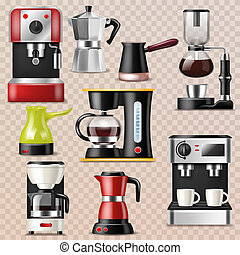 Coffee machine vector coffeemaker and coffee-machine for...