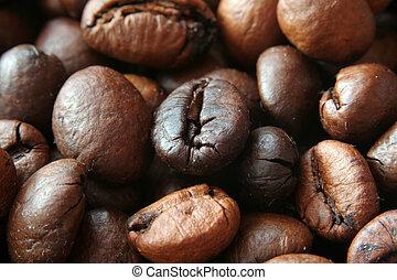 coffee macro - closeup of delicious coffe grains