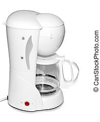Coffee Maker - Coffee maker isolated on white.