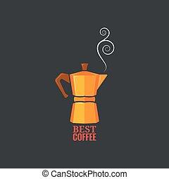 coffee maker design vintage background