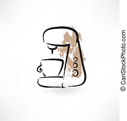 coffee maker grunge icon