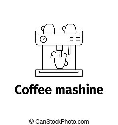 Coffee maker icon. Vector illustration, line style