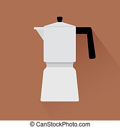 Coffee maker icon with shadow
