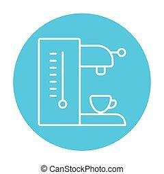 Coffee maker line icon.