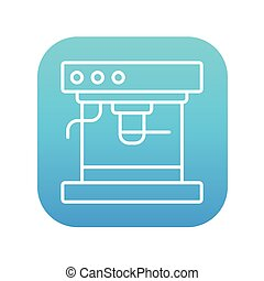 Coffee maker line icon.
