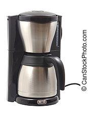 Coffee maker machine on a white background