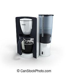 Coffee Maker on the white background