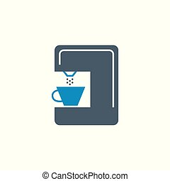Coffee Maker related vector glyph icon.