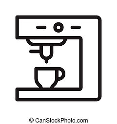 coffee maker thin line vector icon