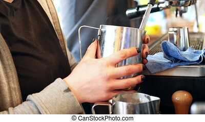 Coffee making food drink - Coffee house business making food...