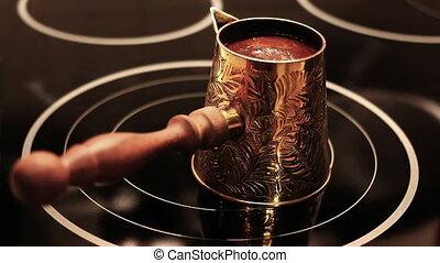 Coffee Making in Old Vintage Turk