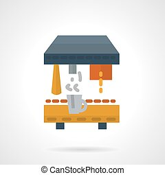 Coffee making vector icon flat style
