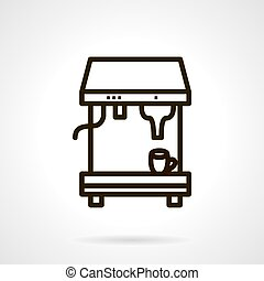 Coffee making vector icon simple line style