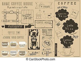 Coffee Menu Craft Placemat - Coffee Menu Placemat Design....