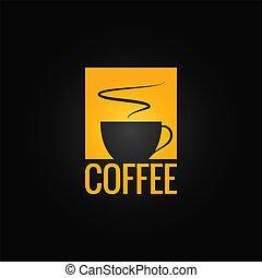 coffee menu cup design background