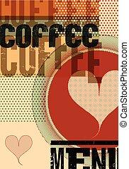 Coffee menu.