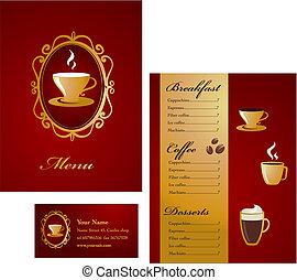 Modern coffee menu template