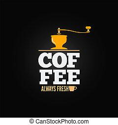 coffee mill grinder cup menu design background